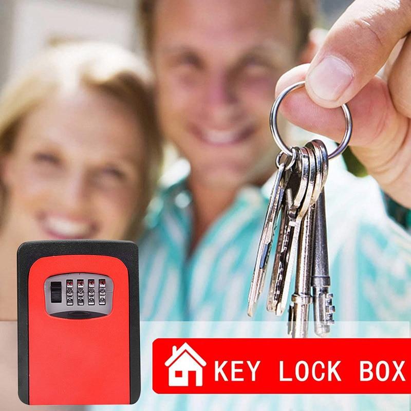 Password Key Box Wall Mounted Security Anti-theft Outdoor Key Safe Lock Storage Box TUE88