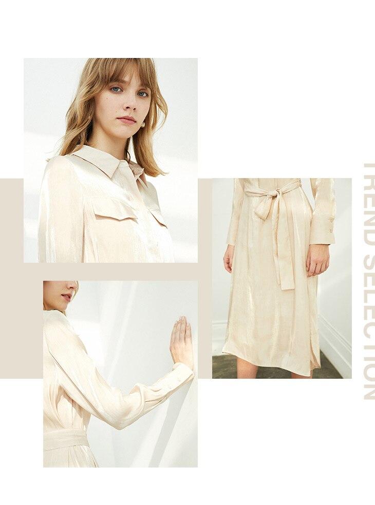ONLY 19 Autumn Glossy Shirt Dress | 119307623 9