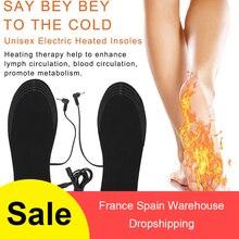 1 пара USB обуви с подогревом удобные мягкие ворсистые стельки для обуви с электрическим подогревом зимние уличные спортивные стельки для утепления моющиеся
