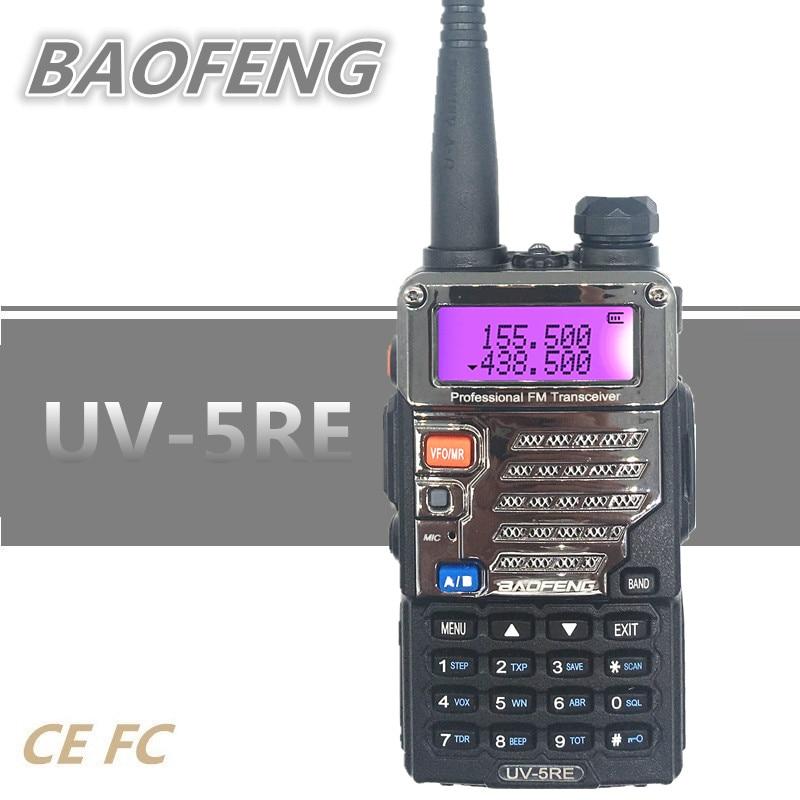BAOFENG UV-5RE Walkie Talkie Radio Amador UHF VHF Marine Handheld Ham CB Radio Station HF Transceiver Scanner UV 5R Woki Toki