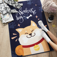 Mat Floor Bathroom Mat Floor Mat Skid Resistant Repeatable Kitchen Home Bedroom Environmental Nylon Dog Pattern Sofa