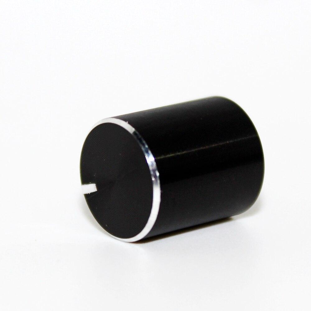Ручка потенциометра энкодера, 6 мм, ручка регулировки громкости вала, маленькая, 11x12,5 мм, черная, 5 шт.