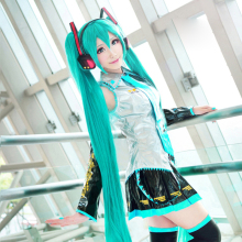 DM COS High Quality VOCALOID Cosplay Wig Hatsune Miku Costume Play Wigs Halloween Party Anime Game Hair 150CM Aquamarine Cos