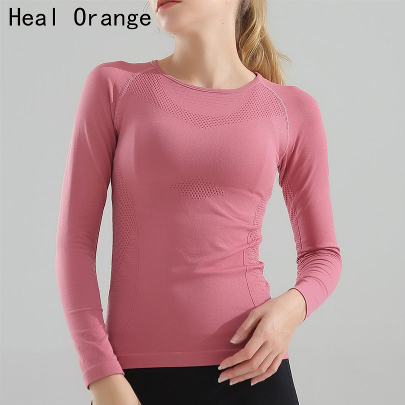 New Seamless Women Sport Tops For Gym Long Sleeve Elasticity Quick Dry Top Fitness Tshirt Jerseys