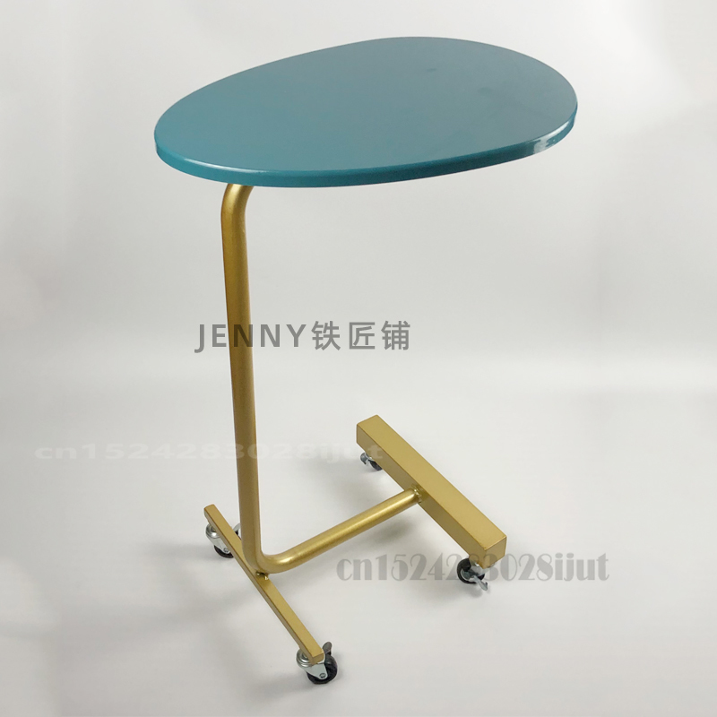 Мобильный маленький столик, чайный столик, диван, угловой шкаф, простой прикроватный мини-столик для спальни, сетчатый, Красный боковой стол...