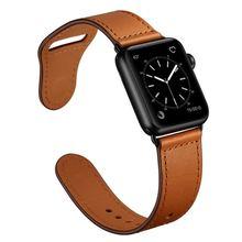 Ремешок для apple watch band iwatch 44 мм 40 42 38 кожаный браслет