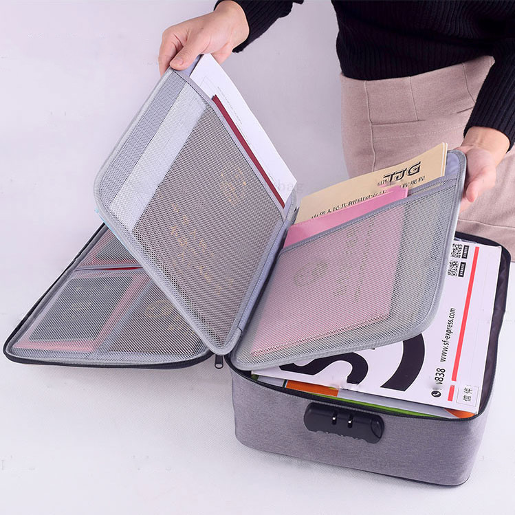 Multifunction Briefcase Business Office Large Capacity Document Bag File Data Certificate Storage Package Accessories Supplies