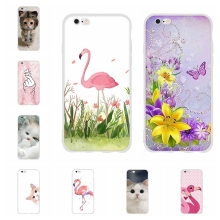 For Apple iPhone 5 5s SE Case Soft TPU Silicone 6 6s Cover Butterflies Patterned Bumper