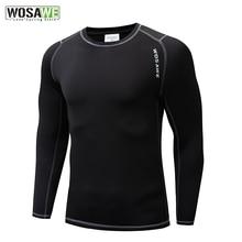 WOSAWE для мужчин и женщин, для езды на велосипеде, базовый слой, бодибилдинг, фитнес, с длинным рукавом, облегающие термо рубашки, для верховой ...