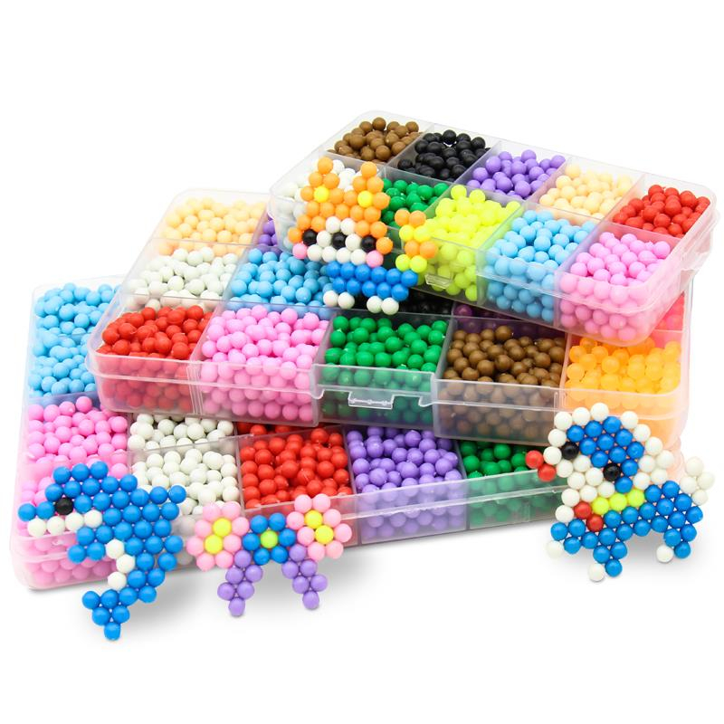 11000pcsChildren Beads For Kids DIY Beads Crystal Creative Material Kids Beads Water Spray Magic Boy And Girl Puzzle Toy