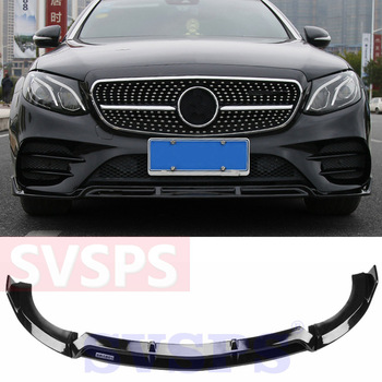 Car Tuning Parts Front Bumper Lip ABS For Mercedes Benz For Brabus E Class E200 E300 E320 W213 model Sport 2015-2019 year