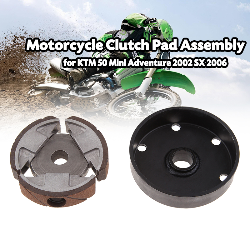 1 Set Motorcycle Clutch Pad & Basket Flywheel Clutch Pad Assembly For KTM 50 /50 SX/50 SX Pro/GS Etc Motorcycle Accessories