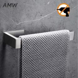 8.3 em barra de toalha de aço inoxidável-suporte de toalha de suspensão de parede de prata preta para banheiro de cozinha