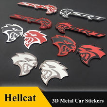 3d металлический hellcat srt Эмблема для решетки радиатора Знак
