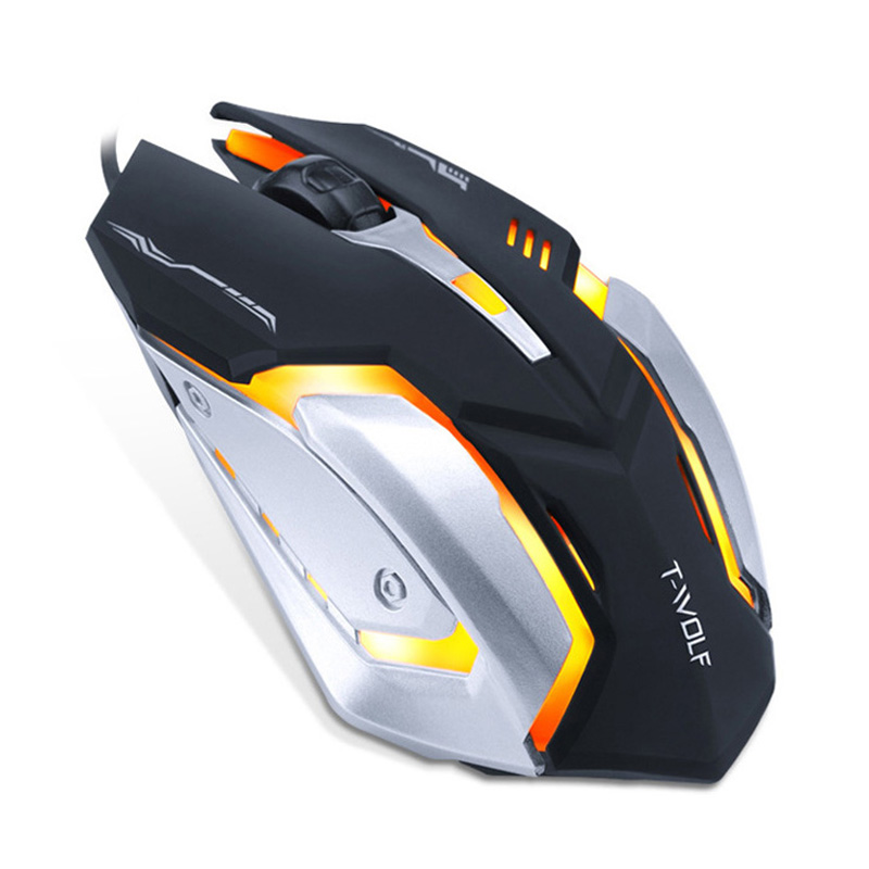 Pro Gamer Gaming Mouse 8D 3200DPI Adjustable Wired Optical LED Computer Mice USB Cable Silent Mouse for laptop PC 5