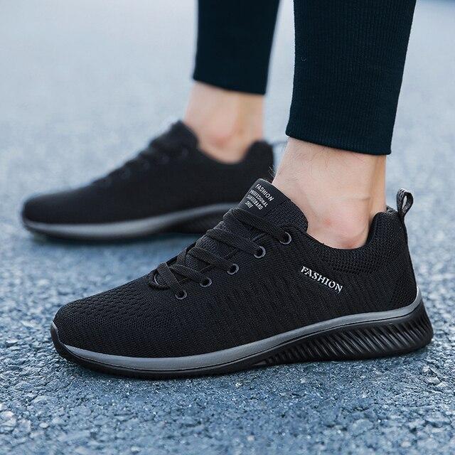 Men Sneakers Fashion Men Casual Shoes Breathable Men Shoes Walking Sneakers Mens Tennis Black Tenis Masculino Zapatillas Hombre