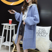 2019 LONG womens sweaters, autumn and winter, new style, loose loose-knit cardigan overcoats.