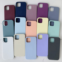 Oficial caso de silicone original para o iphone xr x xs max 7 8 6s mais casos para o iphone 11 12 pro max se 2020 caixa de capa completa