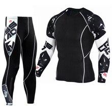 New Jogging Thermal Underwear Set Quick drying Training T shirt font b Leggings b font Union