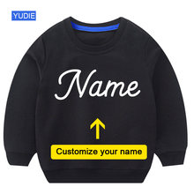 Kids Sweatshirts Customize Your Name Design Toddler Baby Boys Hoodie Cool Birthday Clothing Little Girl Fall Clothes Children's
