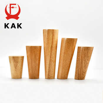 KAK 4pcs Solid Wood Furniture Leg Table Feets Wooden Cabinet Table Legs Fashion Furniture Hardware Replacement for Sofa Bed - Category 🛒 Furniture