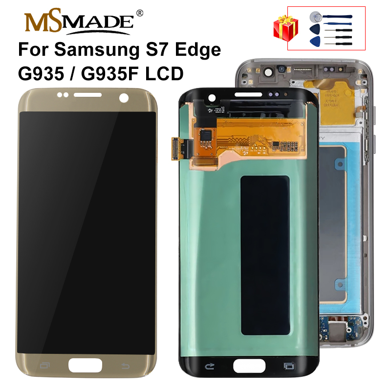 5.5'' Original For SAMSUNG Galaxy S7 edge Display G935 G935F LCD Display Touch Screen Digitizer Assembly For Galaxy S7 Edge LCD image