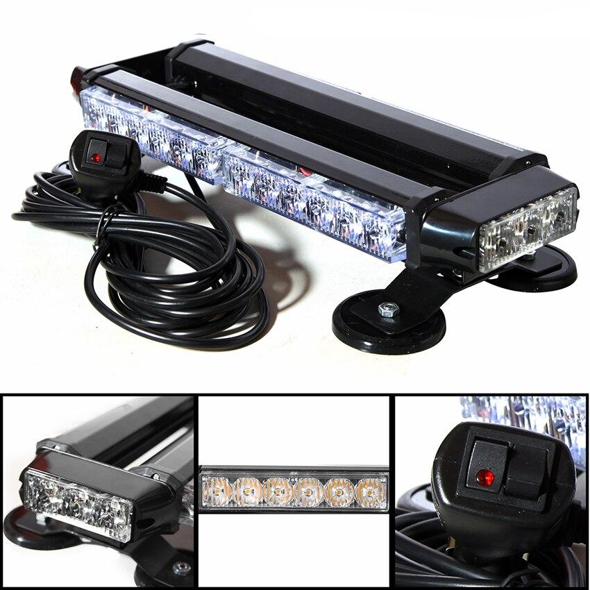 30LED 4 Sides Car LED Strobe Lights Emergency Light Auto Warning Flashing Police Work Light Bar Offroad 4X4