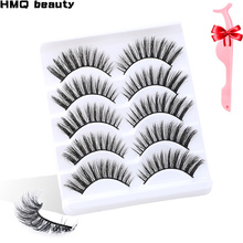 5/15Pairs 3D Mink Hair False Eyelashes Natural Thick Long Curl Eye Lashes Wispy Makeup Beauty Extension Tools