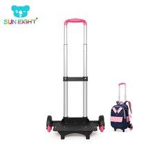 SONNE ACHT Kind Trolley Rucksack Rädern Tasche Schule Tasche Gepäck Für Kinder Räder Erweiterbar Stange Hohe Funktion Trolly