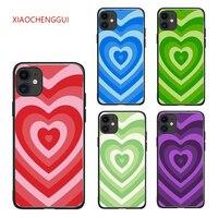 Funda de silicona suave para iphone, protector de silicona suave con diseño de corazones para iphone 11 12 MINI Pro 6 6S 7 8 Plus X Xs Max XR 5 5S SE 2020