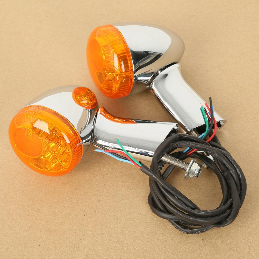 Motorcycle Rear Turn Signals Indicators LED Lights For Harley Sportster 883 Iron XL1200 1992-UP Turn Indicator