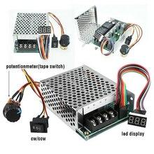 DC10 55V 60A 5000W Reversible controlador de velocidad del Motor de CC PWM Control Soft Start ajustable Módulo regulador
