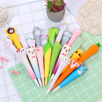 0.5mm Novelty Cartoon Stress Relieve Squishy Gel Pen Signature Squeeze Foam Pen Cute School Office Supplies Gift Stationery 1