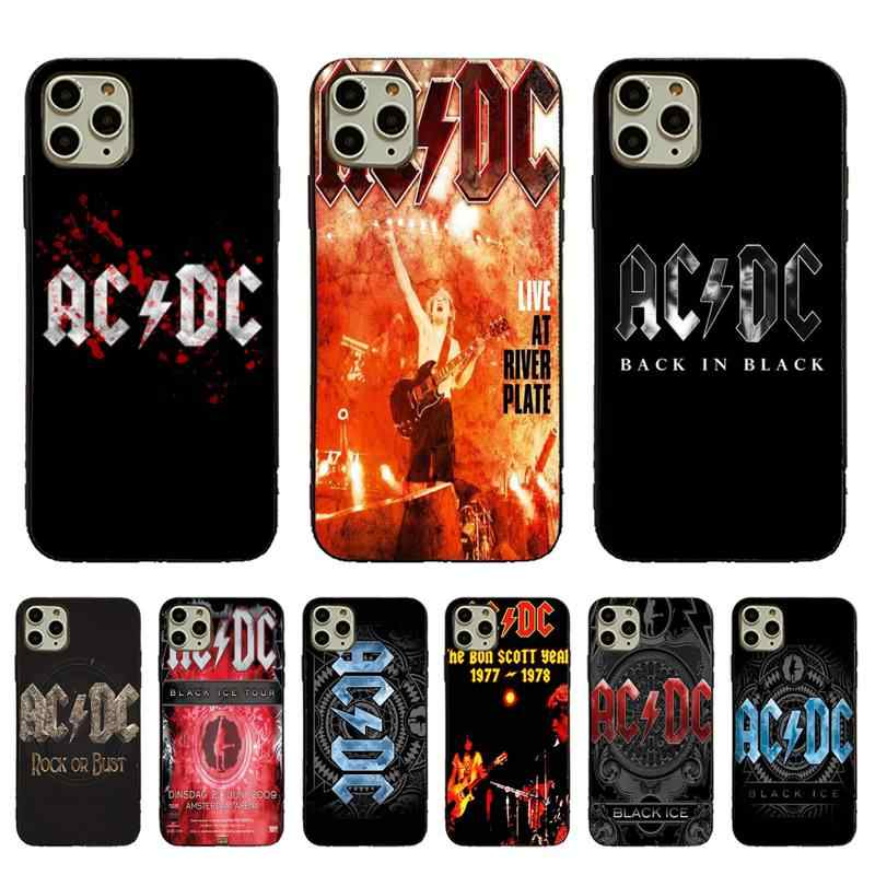 Yinuoda Ac Dc Black ice Music Band Black Cell Phone Case For iPhone 11pro MAX 8 7 6 6S Plus X XS MAX 5 5S SE XR Fundas Capa
