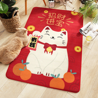 Bathroom Mat Carpets Mat Bedroom Kitchen Skid Resistant Floor Mat Fortune Cat Repeatable
