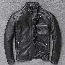Genuine Leather Jacket Men Clothes 2020 Cowhide Coat Motorcy
