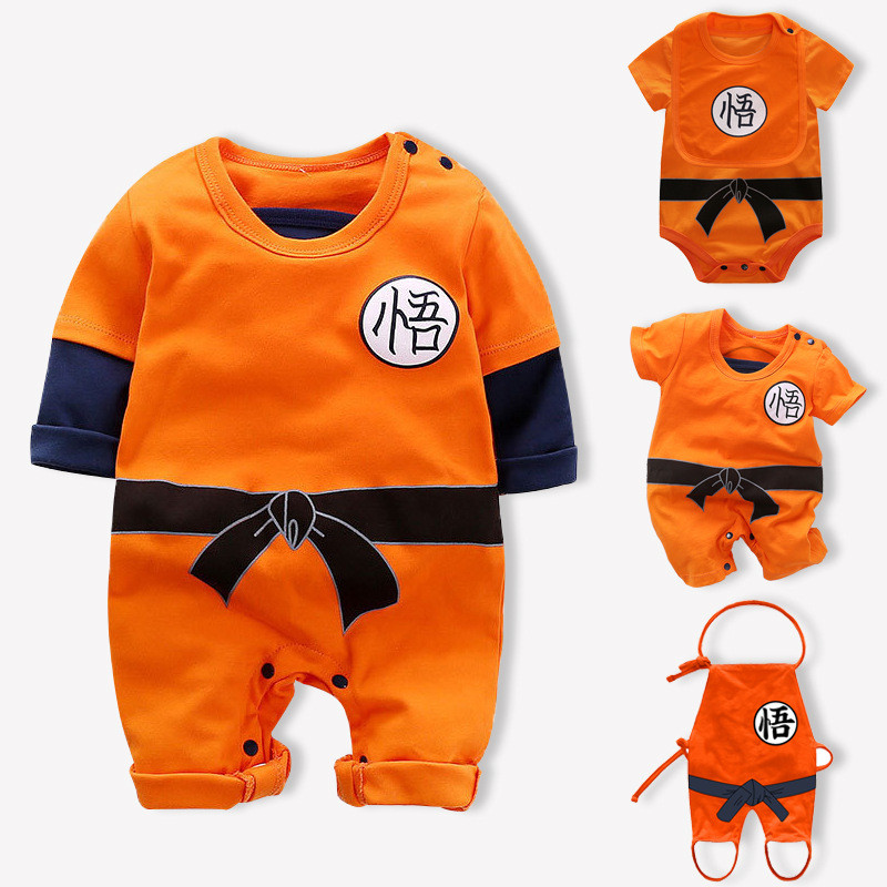 Infant Baby Girls Boys Rompers Jumpsuit For Newborn Baby Dragon Ball Sun Goku Long And Short Sleeve Jumpsuits Baby Boy  Clothes