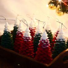 3D Рождественская елка, сосновый конус, силиконовая свеча, форма для мыла, глина, сделай сам, украшение торта, E7CB
