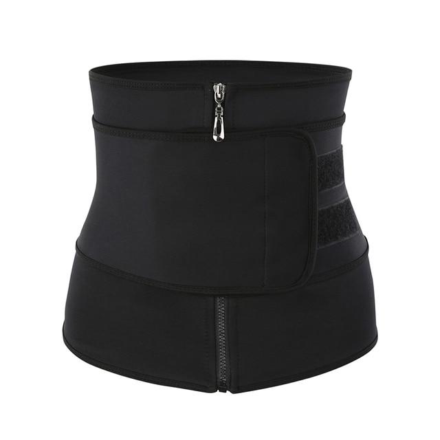 CXZD Women Waist Trainer Fitness Sauna Sweat Neoprene Slimming Belt Girdle Shapewear Modeling Strap Zipper Body Shaper 1