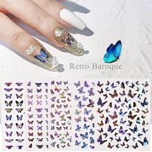 1 шт стикер для ногтей украшение в виде Цветной бабочки 3d водная