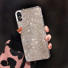 YOACHEY Diamond Glitter Case for iphone X XS MAX XR 7 8 6 6s Plus Soft TPU Silicone Back Cover Bling Rhinestone Girl Phone Cases