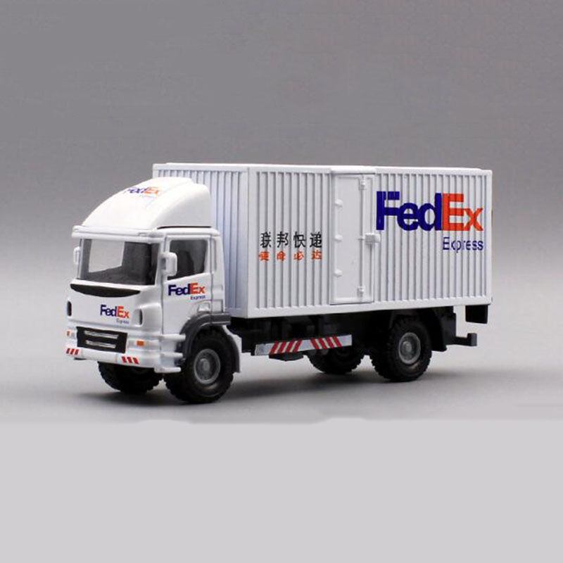 FEDEX EXPRESS Transport Cargo Shipping Container Model 1:20 Decorations