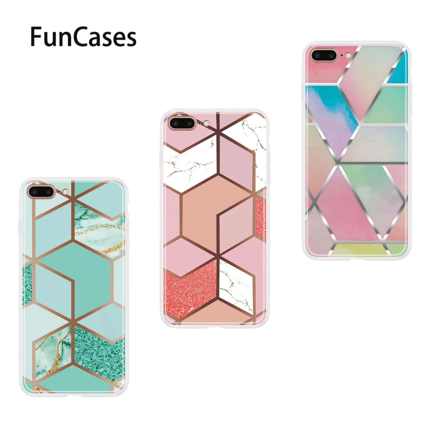 Cube Soft Silicone Protector For Estuche Iphone 7 Plus Fundas Telefoon Cell Covers Sfor Shell Apple Iphone Estuche 8 Plus 5 5 Wallet Cases Aliexpress