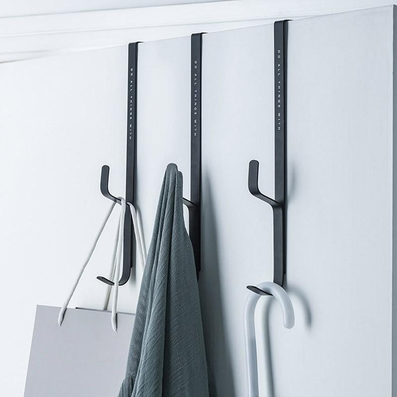 3pcs Door Hanging Towel Coat Hanger Bag Keys Cloth Holder Rack Storage Bedroom Door Hanger Hook Clothes Hanging Rack Hooks