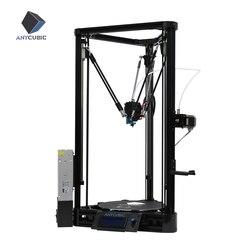 ANYCUBIC Kossel 3D принтер Impresora 3D авто-уровневая платформа шкив линейная направляющая плюс большой размер печати Настольный Набор Diy
