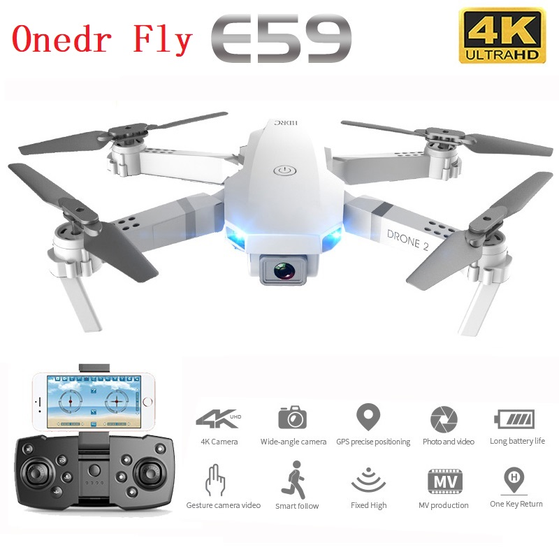 E59 Mini Drone 4K HD Camera Professional Aerial Photography Helicopter 360 Degree WIFI Real Time Transmission Quadcopter