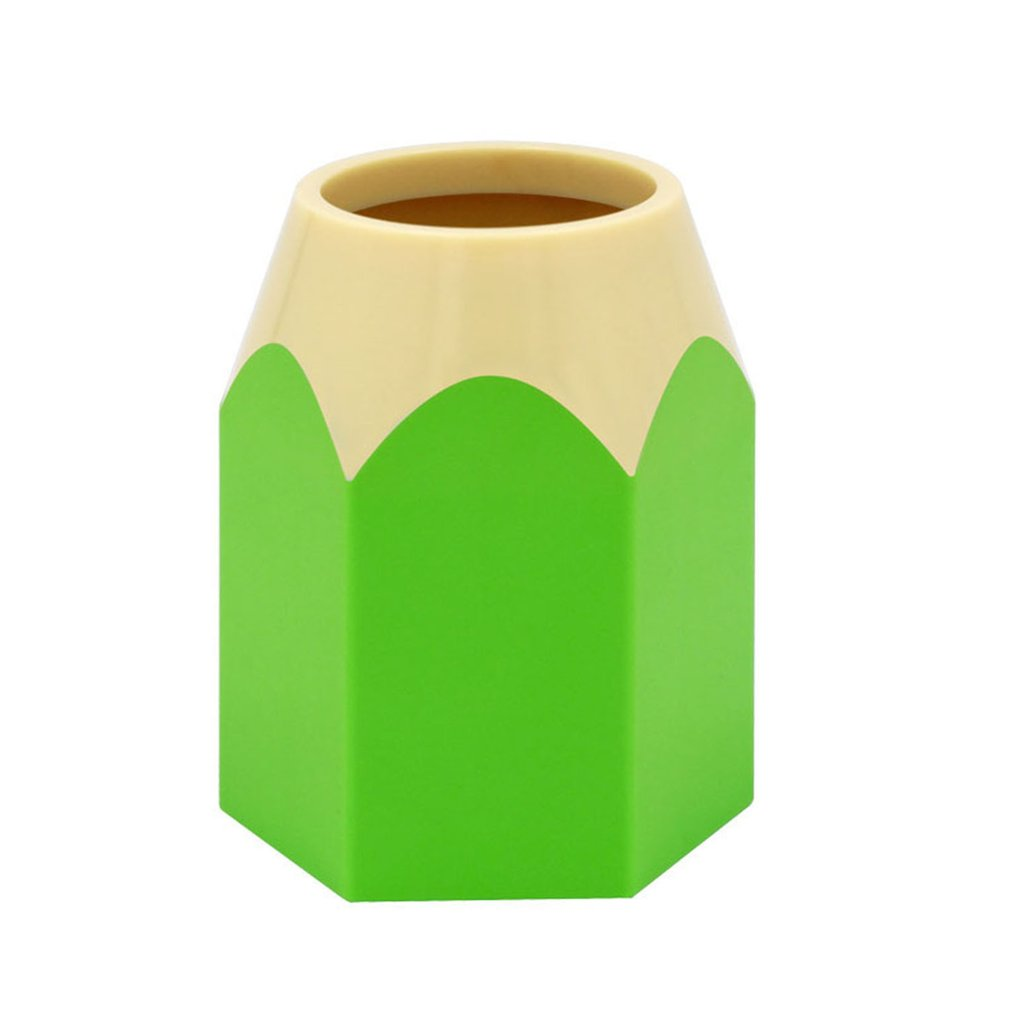 Creative Pen Vase Pencil Pot Pen Holder Container Stationery Plastic Desk Organizer Tidy Container School Office Supplies