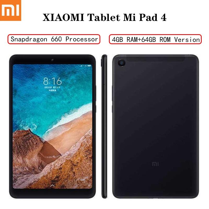 XIAOMI MI Pad 4 Tabletas 안드로이드 LTE/WIFI 8.0 인치 태블릿 4GB RAM 64GB ROM 금어초 660 태블릿 블루투스 5.0 듀얼 카메라