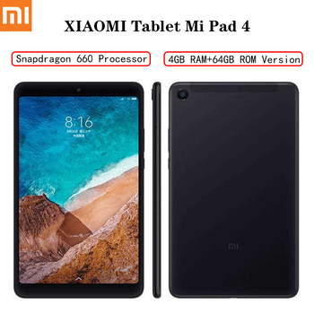 XIAOMI MI Pad 4 Tabletas Android LTE/WIFI 8,0 pulgadas Tablet 4GB RAM 64GB ROM Snapdragon 660 tableta Bluetooth 5,0 Dual cámaras