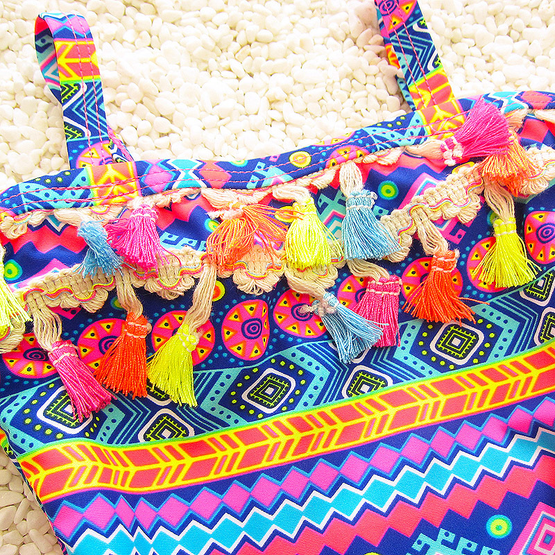 South Korea Girls Tassels Ethnic-Style Large Children Baby Split Skirt Triangle Hot Springs Infants CHILDREN'S Swimwear